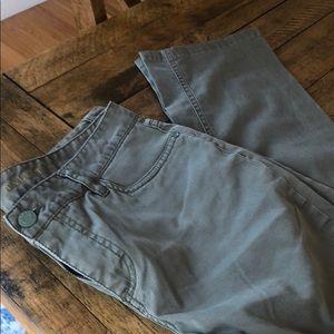 Talbots signature straight camo green pants